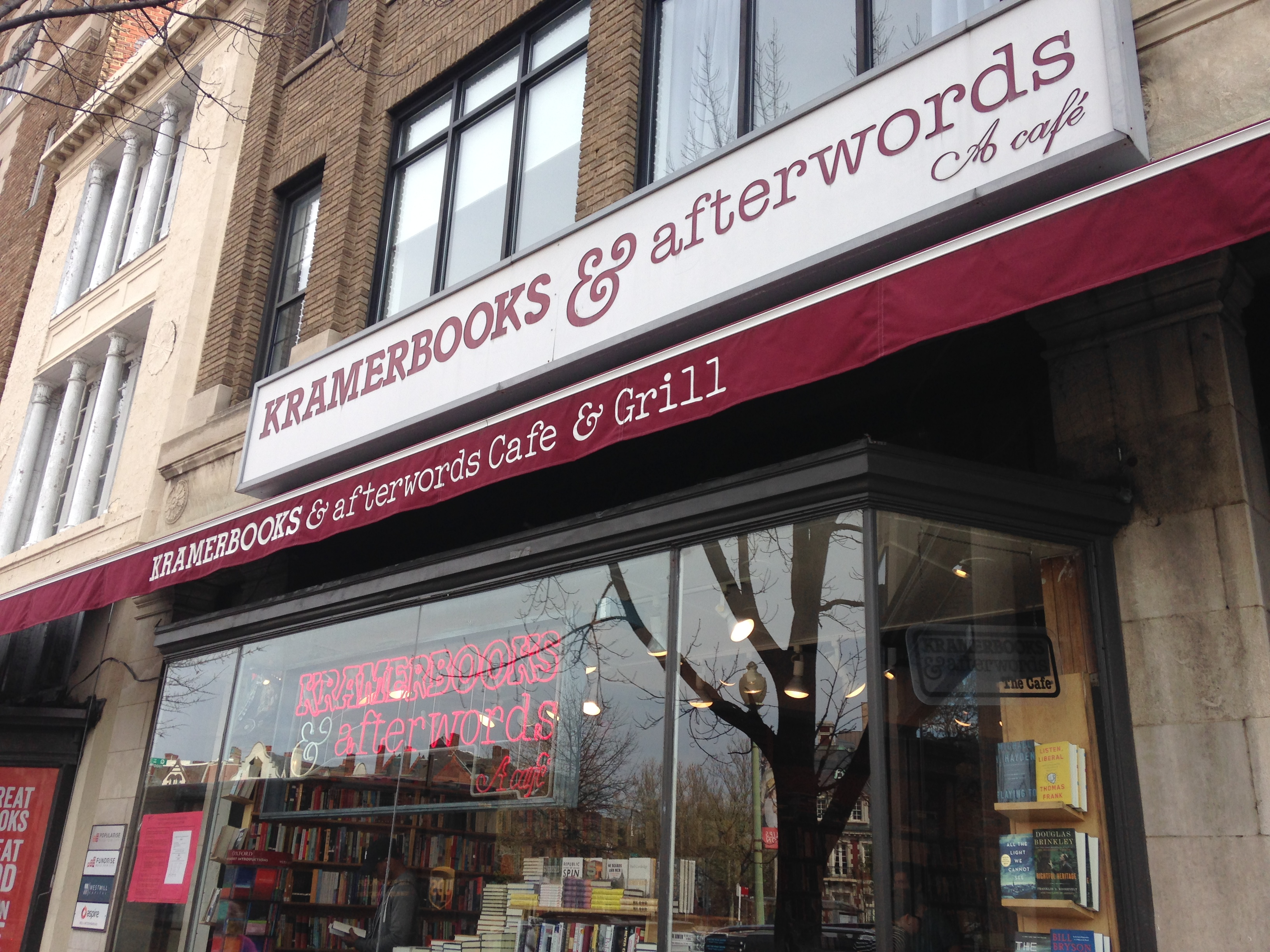 A Conference In Washington, Dc, Got Me To A New Bookstore Kramerbooks Is  In Dupont Circle And Packs A Lot Of Books In Two Pretty Small Rooms